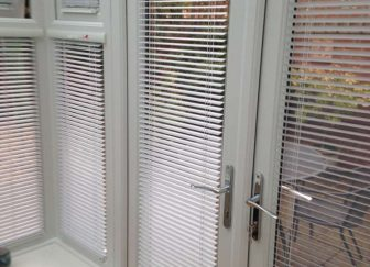 INTU Venetian conservatory blinds fitted in a house in Budleigh Salterton.