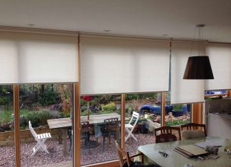 Roller blinds, fitted in a house in Exmouth.