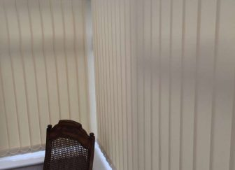 Vertical blinds fitted in a conservatory in Exmouth.
