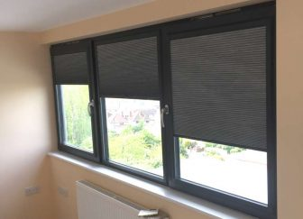 Perfect Fit pleated blackout blinds fitted at a house in Exmouth.
